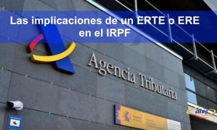 ERTE's, IRPF y la declaración de la renta