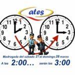 Cambio al horario de verano, recuerda, esta noche a las 2:00 pasarán a ser las 3:00