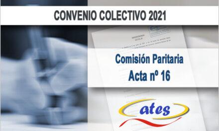 Convenio 2021, Acta 16
