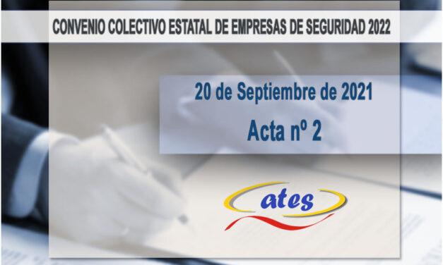 Convenio Colectivo 2022, acta nº 2