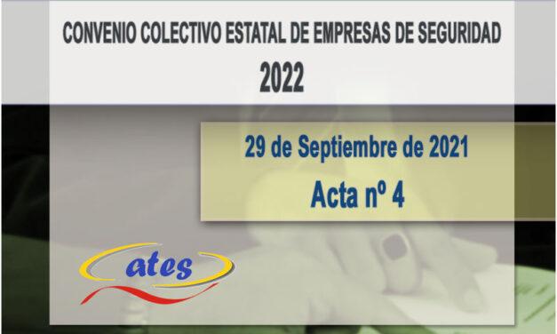 Convenio Colectivo 2022, acta N.º 4