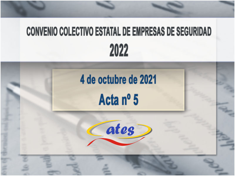 Convenio Colectivo 2022, acta N.º 5