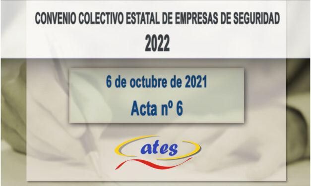 Convenio Colectivo 2022, acta N.º 6