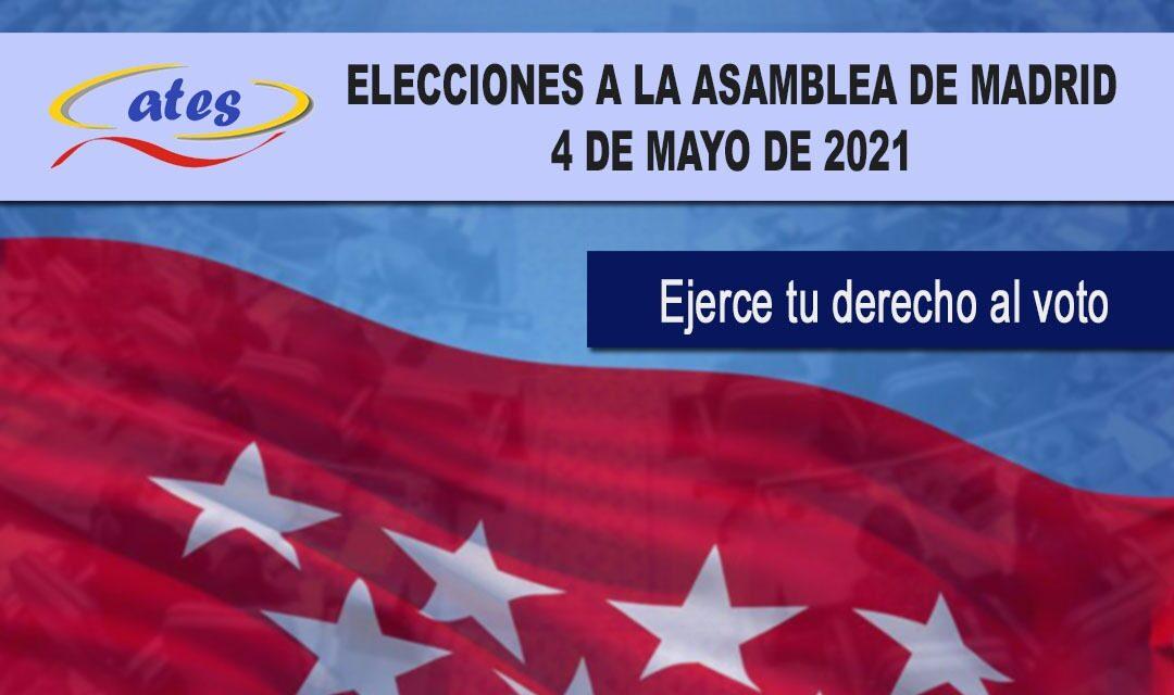 Solicitud de relevo y permisos en las próximas elecciones de la Comunidad de Madrid