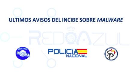 Red Azul informa de los últimos avisos del Incibe sobre Malware