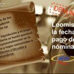 ATES denuncia el cambio unilateral de la fecha de pago de salarios en LOOMIS