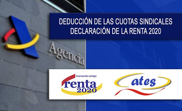 DEDUCCIÓN DE LAS CUOTAS SINDICALES EN LA DECLARACIÓN DE LA RENTA 2020