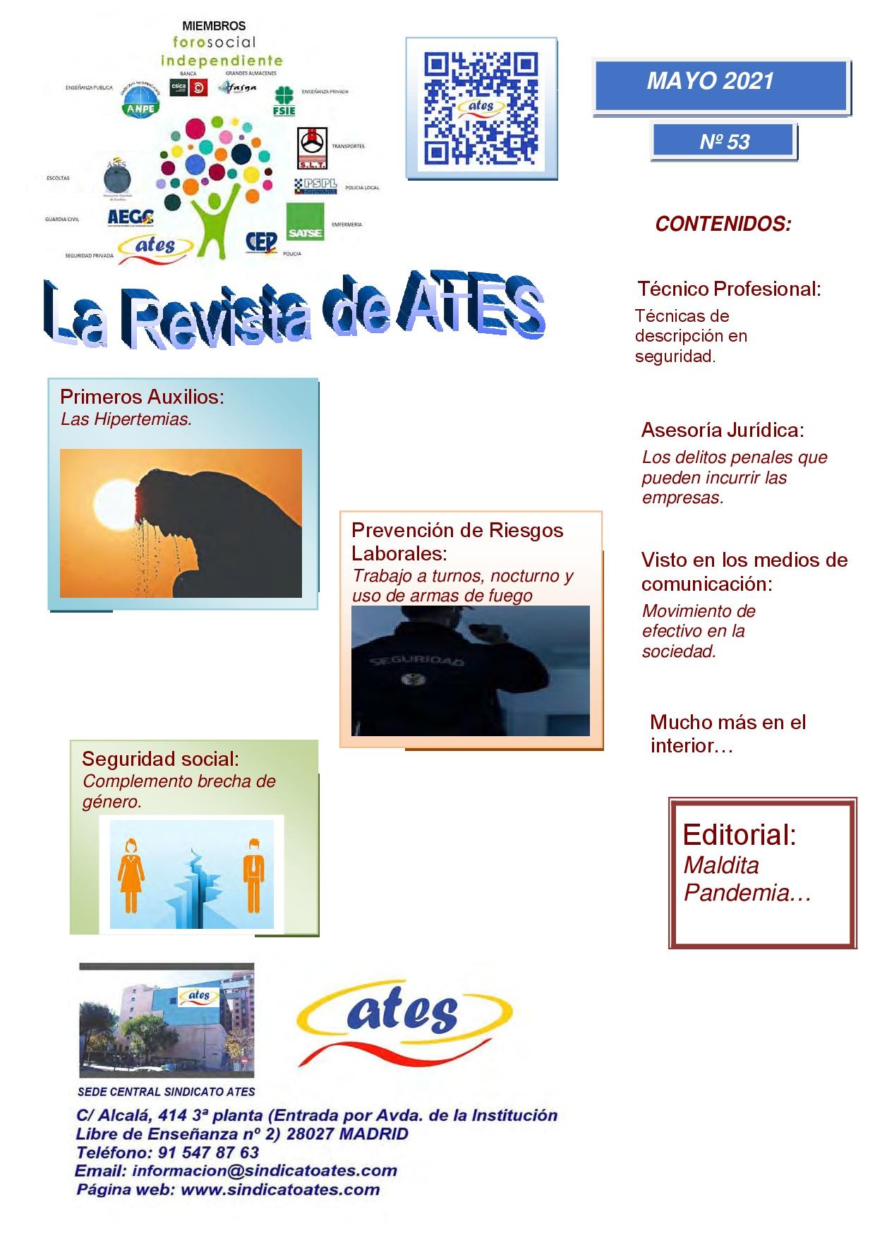 Revista ATES mayo 2021