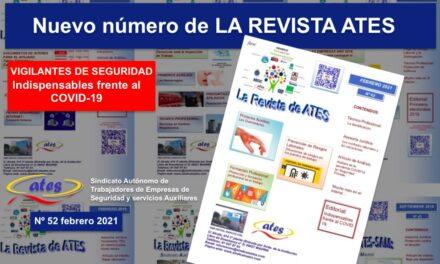Nuevo número de LA REVISTA ATES, febrero 2021